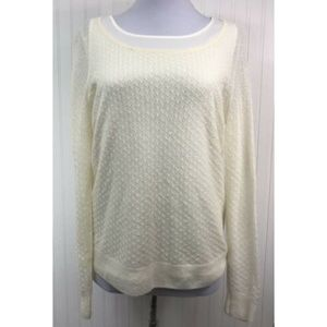 Ann Taylor NWT Medium Ivory Mohair Blend Sweater